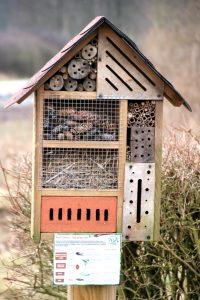 Insektenhotel mit Ersatzquartieren für verschiedene Insektenarten Tiere